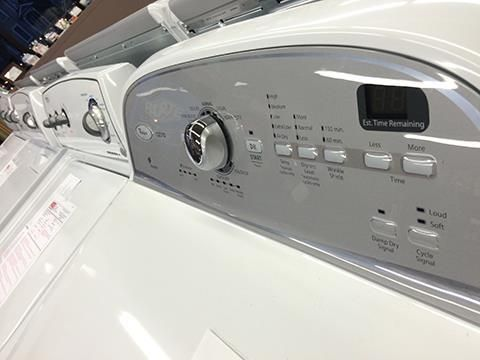 Great selection of new washers and dryers to choose from!