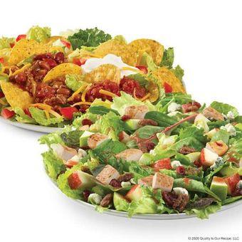 Wendy's Taco Salad and Apple Pecan Chicken Salad