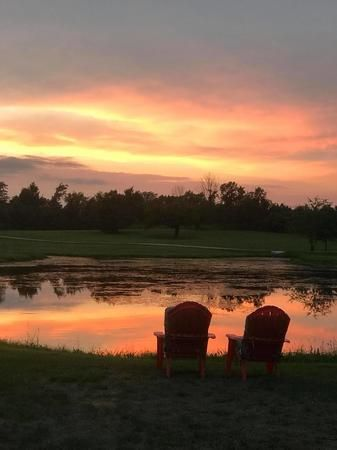 Stay at our serene campgrounds and enjoy a beautiful sunset!