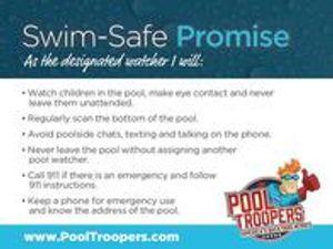 Pool Troopers Swim Safe Promise