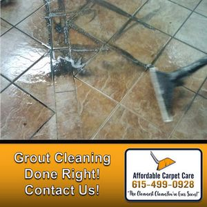 In addition to carpet cleaning and upholstery cleaning, we also offer grout and tile cleaning services! Contact us today to get scheduled!