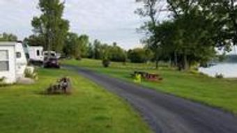 Waterfront campground seasonal rentals for RV's in Vermont