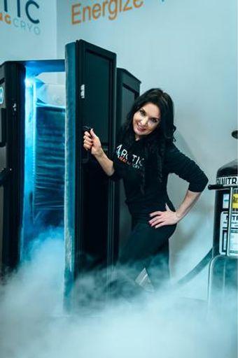 Larissa, the owner of Arctic Healing Cryo.