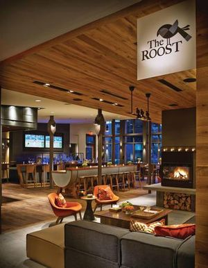 Interior photo of The Roost restaurant