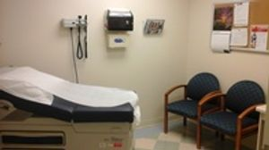 An exam room in our clinic