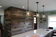 reclaimed wood wall installer