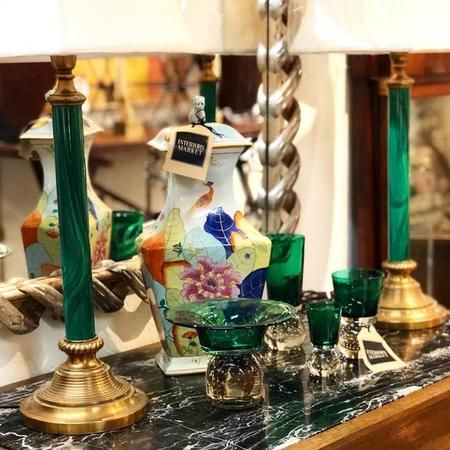 Green is the color of life, renewal and growth — perfect for our fresh pieces that arrive every day! Come in and get inspired!