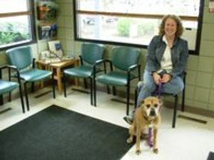 A satisfied customer & patient at VCA Woodstock Animal Hospital