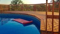 Custom built decks for your above ground pool in Oklahoma City, OK. We service the entire state of Oklahoma!