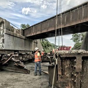 High Speed Rail project from Chicago to St. Louis on its way. Bridge demo in Shipman, IL #demolition #STL #Chicago #highspeedrail
