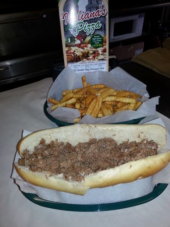 Cheese Steak and French Fries