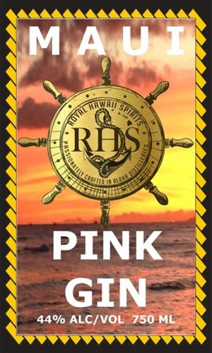 maui island pink gin crafted by rhs royal hawaiian spirits distillery and crafted liquor wholesale import  export