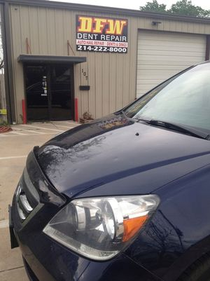 Mike's third appearance at DFW Dent Repair for some hail damage removal.