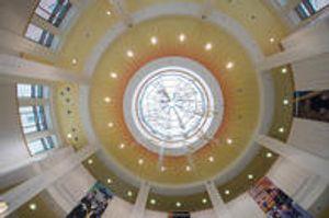 Interior atrium ceiling