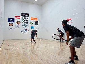 Our racquetball court