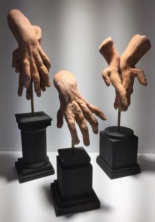 3 hand sculpture