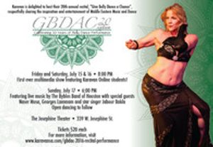 """2016 """"Give Belly Dance A Chance"""" weekend recitals and performances"""