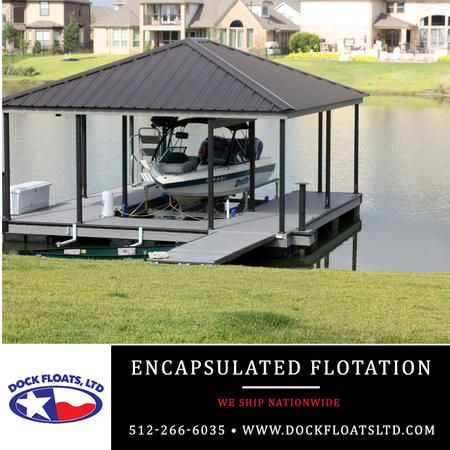 Encapsulated flotation Austin, Texas. Contact Dock Floats Ltd in Austin for your FREE phone consultation: 512-266-6035