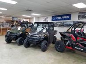 We are a Polaris dealer and have a great selection of top of the line Polaris ATVs and Rangers for sale.