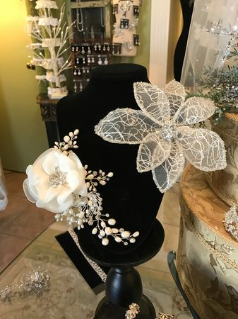 Beautiful selection of unique headpieces to choose from...or create your own!