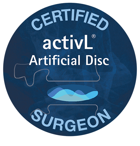 First spine surgeon in Pennsylvania to implant the activL® Artificial Disc