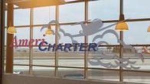 Americharter Office Logo Sign Reflection
