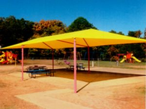 Playground Tent Canopy Cover - custom made and installed.  Sunbrella fabrics.
