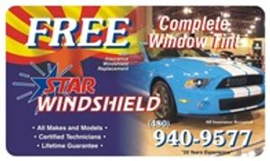 Free Tint Service with Insurance Window Replacement