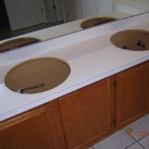 Vanity formica countertop BEFORE resurfacing
