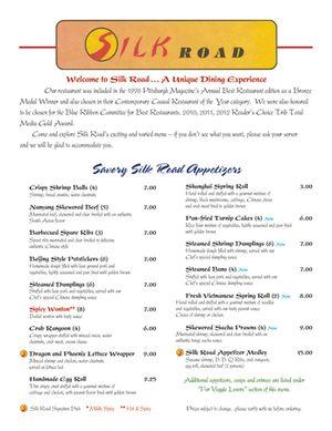 Dinner Menu Page 1