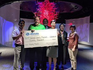 My team volunteered their time to earn National Liberty Museum an Allstate Foundation Helping Hands grant of $20,000.