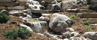 Water feature designed for backyard in Colorado Springs, CO.