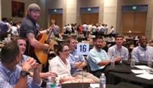 Our large group conference song session.