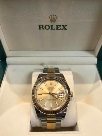 A rolex can make any outift!