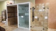 Check out our shower and tile installations, at our Sugar Land showroom.
