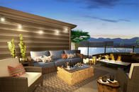 Select homes will offer rooftop decks with gorgeous views.