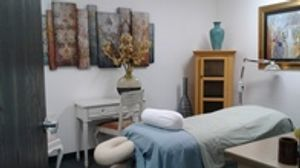 A room where we practice alternative medicine to provide holistic health.
