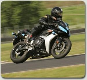 Portland motorcycle attorney pictured on his CBR 600 at PIR