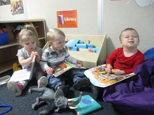 Reading time in the Toddler class