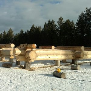 Building a lodge for an outfitter in Libby Montana.