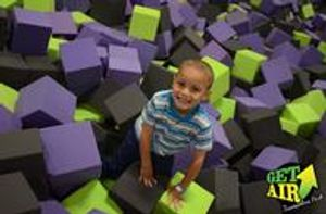 Get Air trampoline park is equipped with 42,000 square feet of indoor trampoline jumping fun!