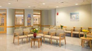The waiting area for the Labor and Delivery Unit