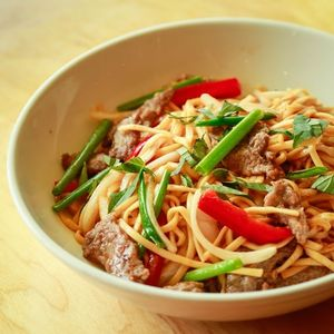 Dragon Noodles with Beef