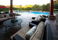 Who wouldn't want to relax in this back patio?