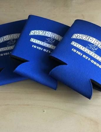 We also make custom coozies!