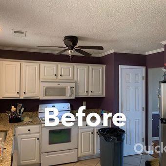 Interior kitchen painting job before