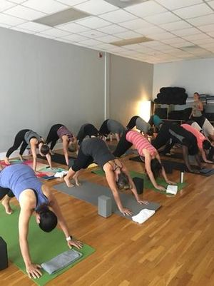 Stop in for a group yoga class!
