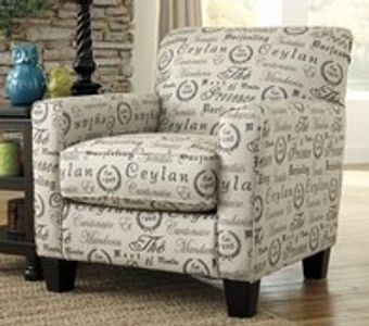 Accent chair rental. Part of our furniture rental packages.