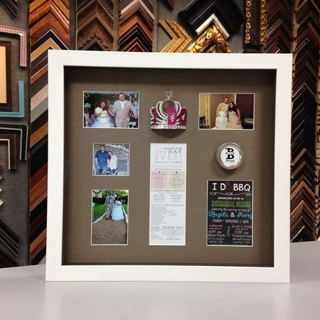 Select a custom frame or shadow box today!