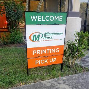 Minuteman Press San Antonio TX Welcome Sign